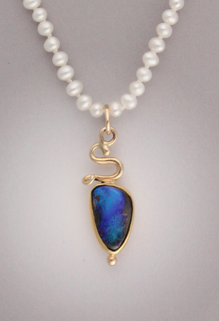 flashy pendant boulder copper oxidized woven handmade products wire opal